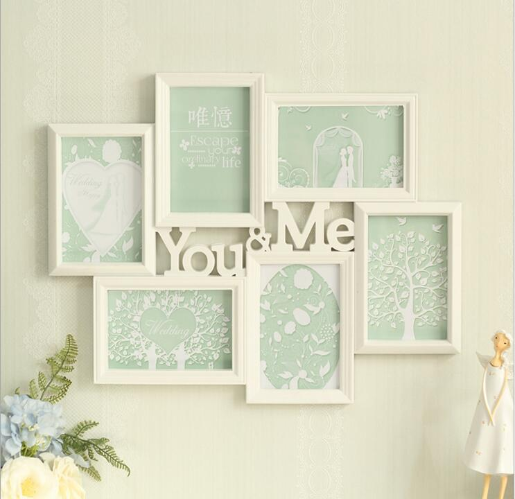 you me white family picture frame photo collage home wall decoration wedding giftchina