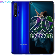 Оригинальный Смартфон Honor 20, экран 6,26 дюйма, 8 Гб 256 ГБ, Восьмиядерный процессор Kirin 980, на базе Android 9,0, суперзарядка, 3750 мАч, разблокировка лица, NFC