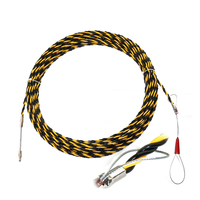 New 6.5mm*20m Nylon Fish Tape Electric Cable Push Puller Snake Conduit Ducting Cable Rodder Wire Guide