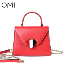 OMI Women's handbags Women's bag Female's genuine leather handbag famous designer brand bags luxury designer shoulder bags Flap