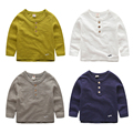 Kids T-shirt soft thin for boys cotton tees long sleeve children tops spring new