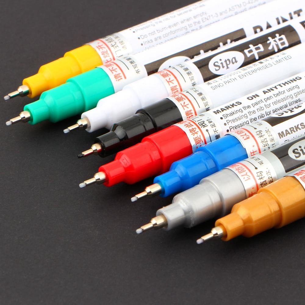 8 Colors Metallic Needle Marker Pen Fine Point Paint Non-toxic Permanent Pen Diy Art School Office Supplies
