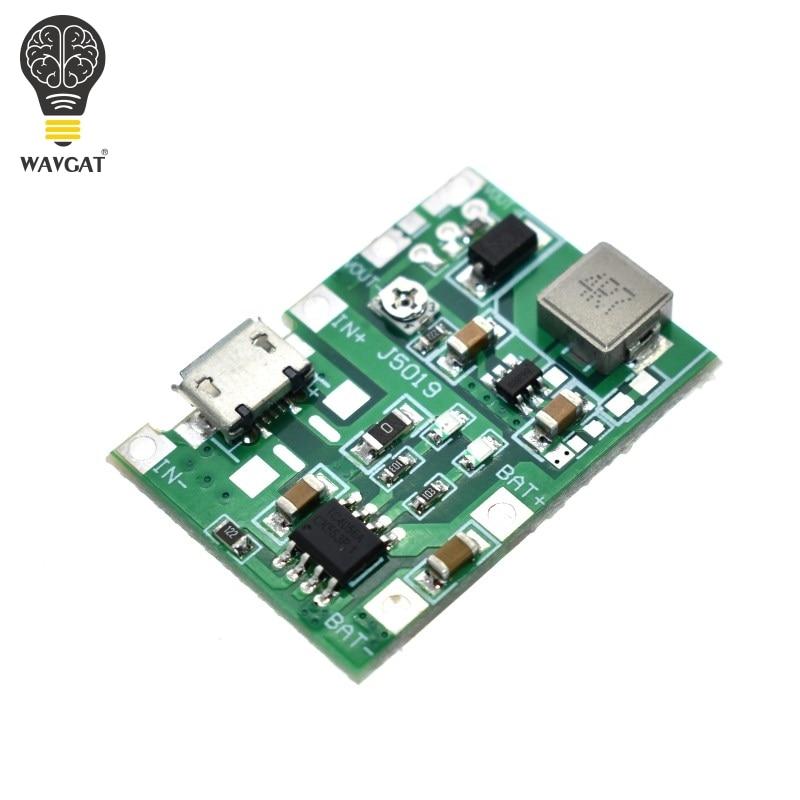 Плата зарядного устройства WAVGAT, литий-ионный аккумулятор 18650 3,7 в 4,2 в, Повышающий Модуль TP4056, детали для набора «сделай сам»