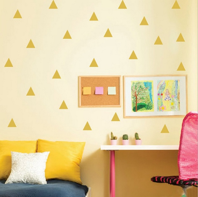 Triangle Wall Decal /Gold triangle Decal / 2.0\