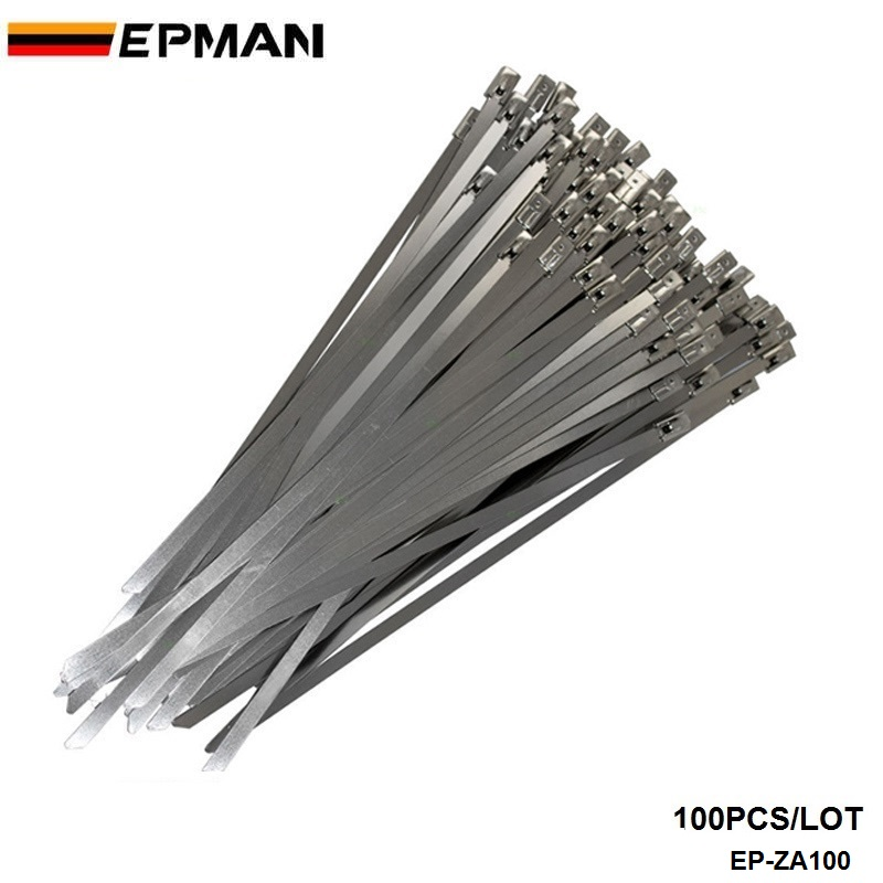 Epman 100x Exhaust Heat Stainless Steel Cable Ties Wrap Metal Tie Extra Long Amp Wide Large For