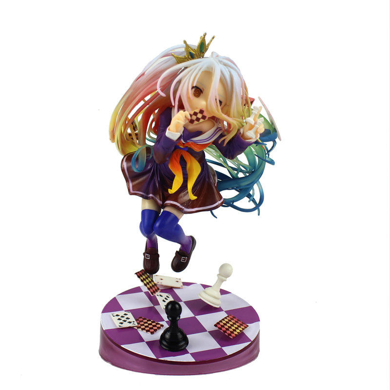 Free Shipping 8 No Game No Life Anime Imanity Shiro 3rd Poker Boxed 19cm PVC Action Figure Model Collection Doll Toys Gift free shipping 7 touken ranbu online kashuu kiyomitsu boxed 19cm pvc action figure collection model doll toy gift