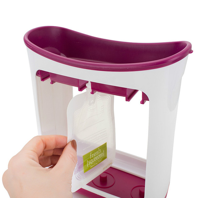 Baby Food Maker Food Squeeze Station Infant Feeding Containers Storage Baby Fruit Puree Packing Machine Toddler Solid Juice Make 4