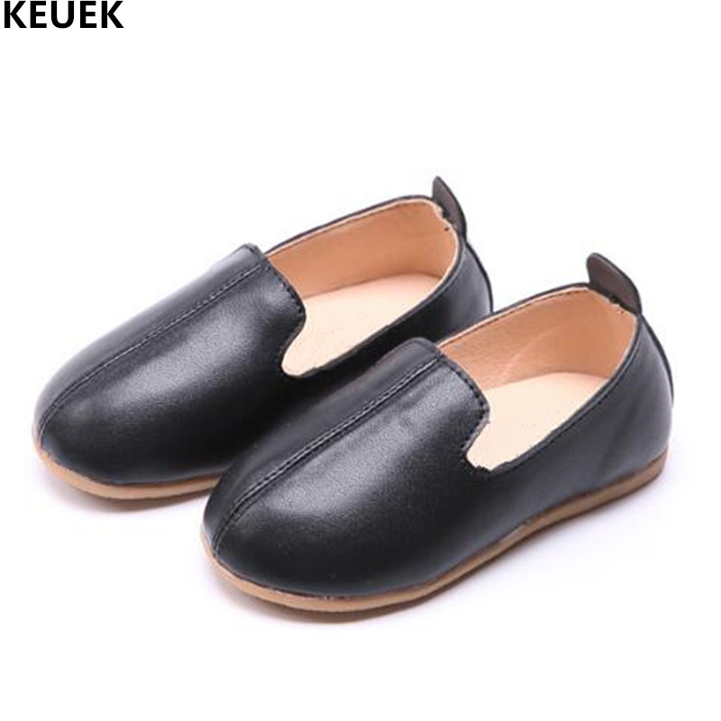 New Children Shoes Spring/Autumn Single Shoes Boys Girls Leather Shoes Baby Toddler Loafers Cow Muscle Flats Kids Shoes 041