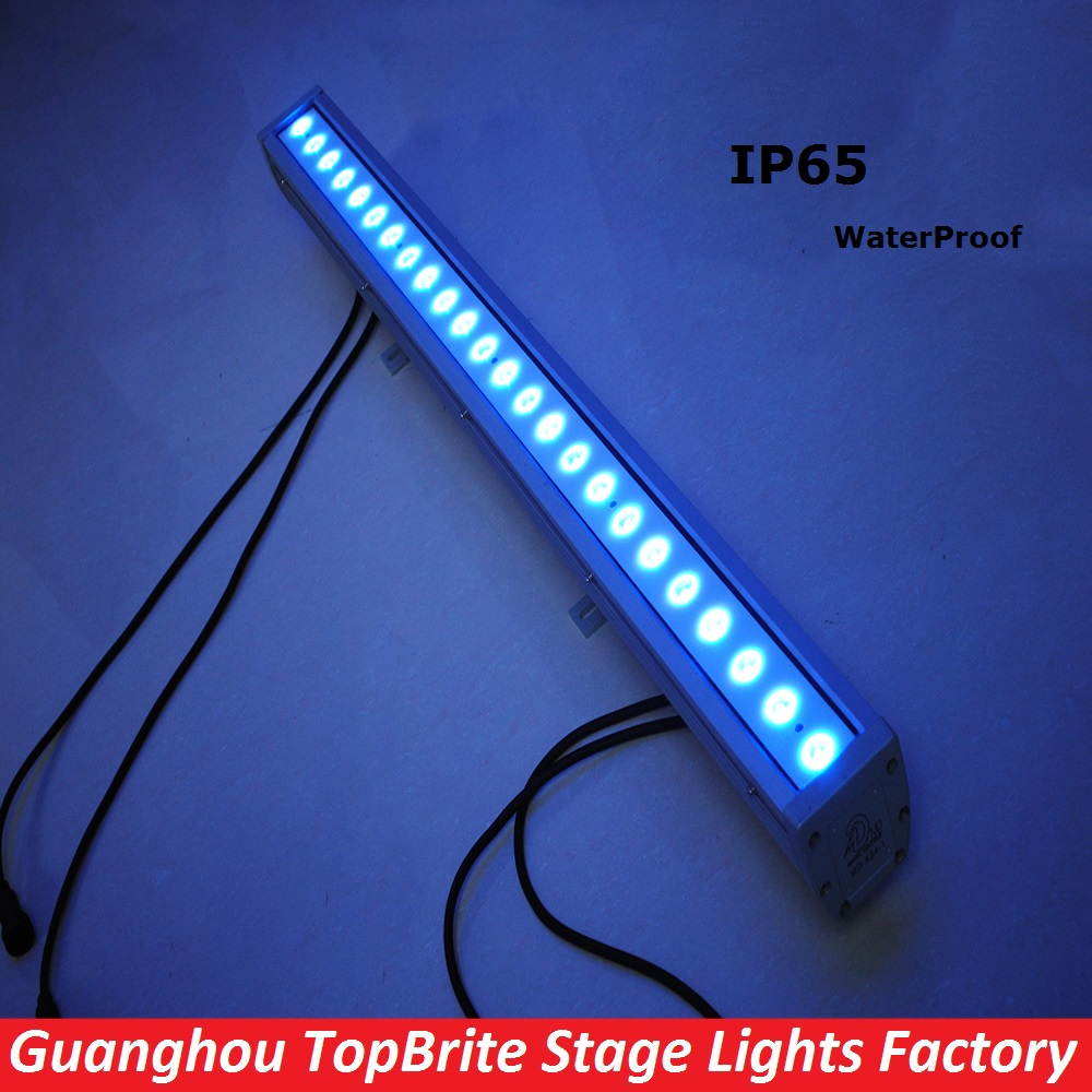 LED Bar Wall Washer Light 24X3W RGB 3IN1 IP65 Waterproof 80W Led Wall Wash Lights 110-220V For ...