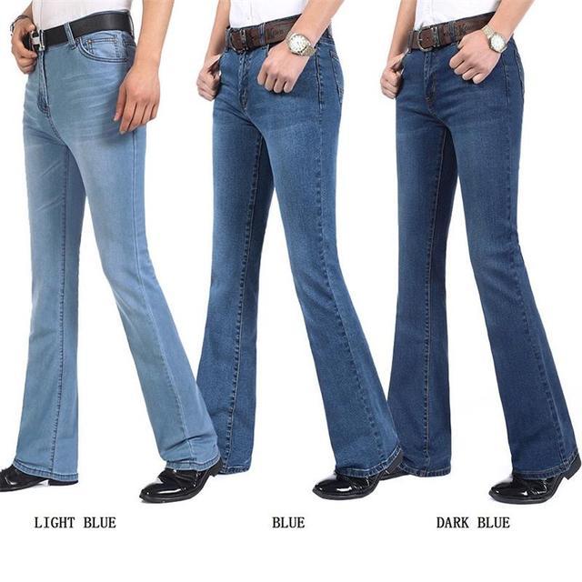 משלוח חינם גברים של באיכות גבוהה עסקי מזדמן אתחול לחתוך ג ינס אמצע מותניים אבוקות התלקח חצי תחתון מכנסיים בתוספת גודל 27 38