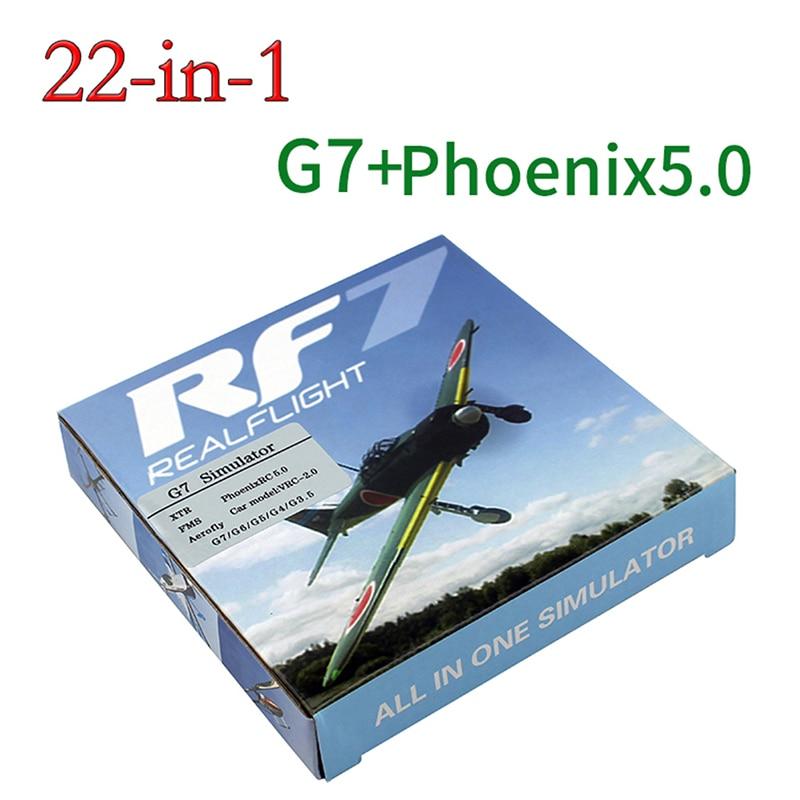 22 in 1 RC Simulator 22in1 USB Simulator for Realflight Support G7.5 G7 G6.5 G5 Flysky FS-I6 TH9X Phoenix5