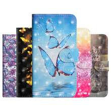 Butterfly  PU Leather Flip Case For Funda W10 Q60 Wallet Cover LG K50 K40 V40 V50 ThinQ Q Stylo 4 5 Coque
