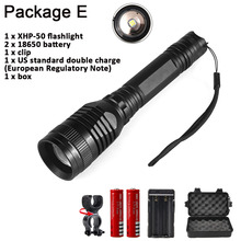 Super bright P53 1800Lumens CREE XHP50  5 mode Outdoor Zoom Spotlight Torch Hunting Tactics LED  High Power Use 18650 Flashlight hot super bright wf 501b cree xml t6 1000 lumens 18650 1 mode outdoor waterproof spotlight torch hunting tactics led flashlight