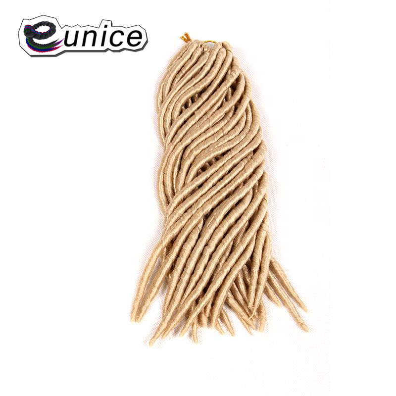 Eunice Synthetic Hair For Braid Blond #613 Soft Crochet Dreadlocks Braids Extensions Kan ...