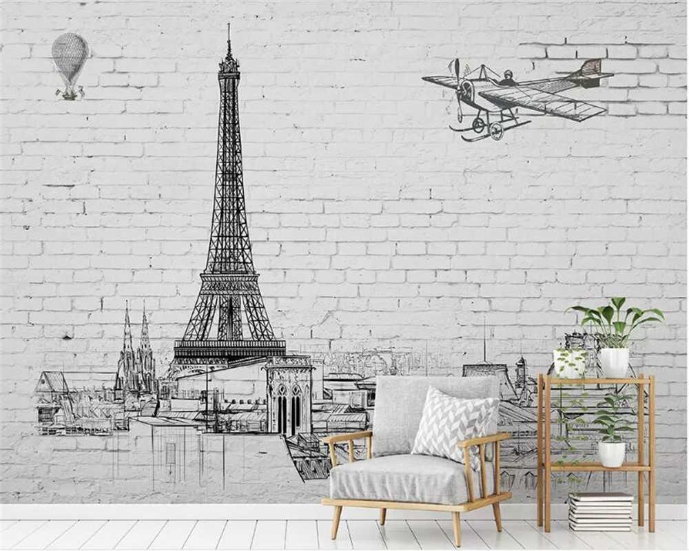 Фотообои рисунок на кирпичной стене