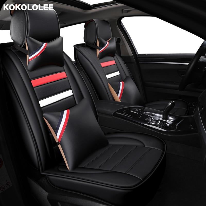 Kokololee housse de siège de voiture universelle en cuir pour Hyundai elantra terrasses accent azera lantra tucson iX25 i30 iX35 i20 i10 i40