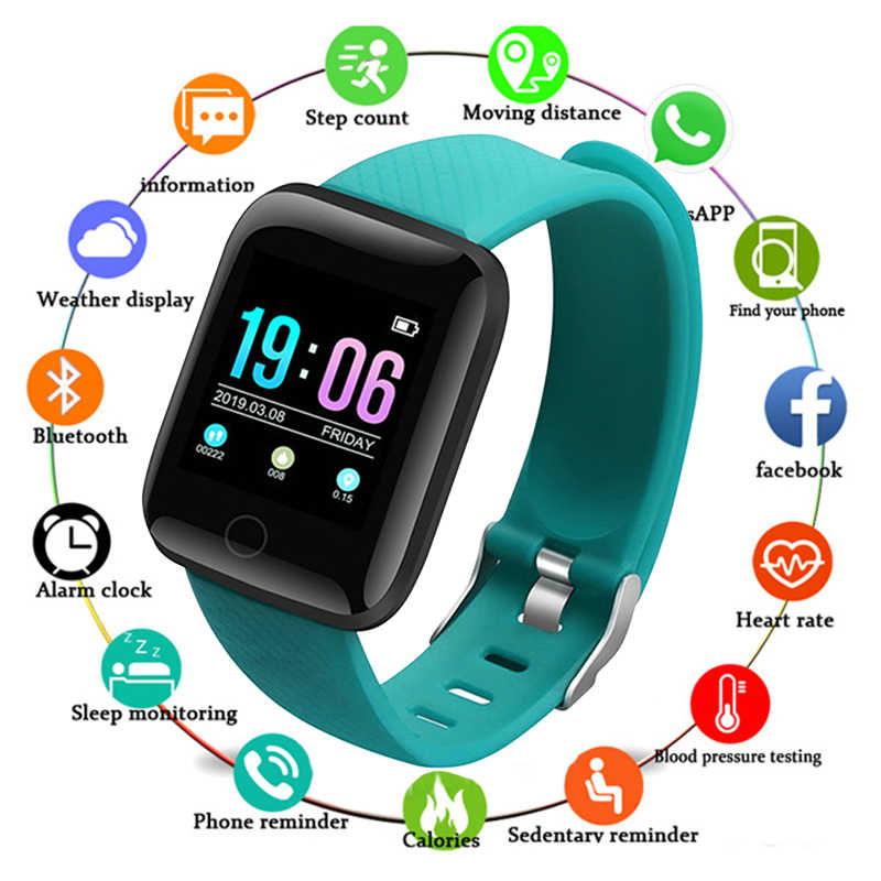 Men Smart Watches Women Waterproof Smart Watch Heart Rate Monitor Blood Pressure Functions Sports Watch for IOS Android+BOX 2019