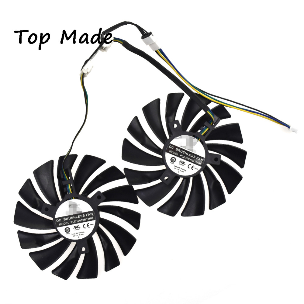 2pcs/set 6-pin for MSI GTX960/GTX950 R9 380/390/390X GAMING mute Graphics fan computer cooler radiator with heatsink heatpipe cooling fan for msi r9 390x r9 390x gaming grahics card vga cooler