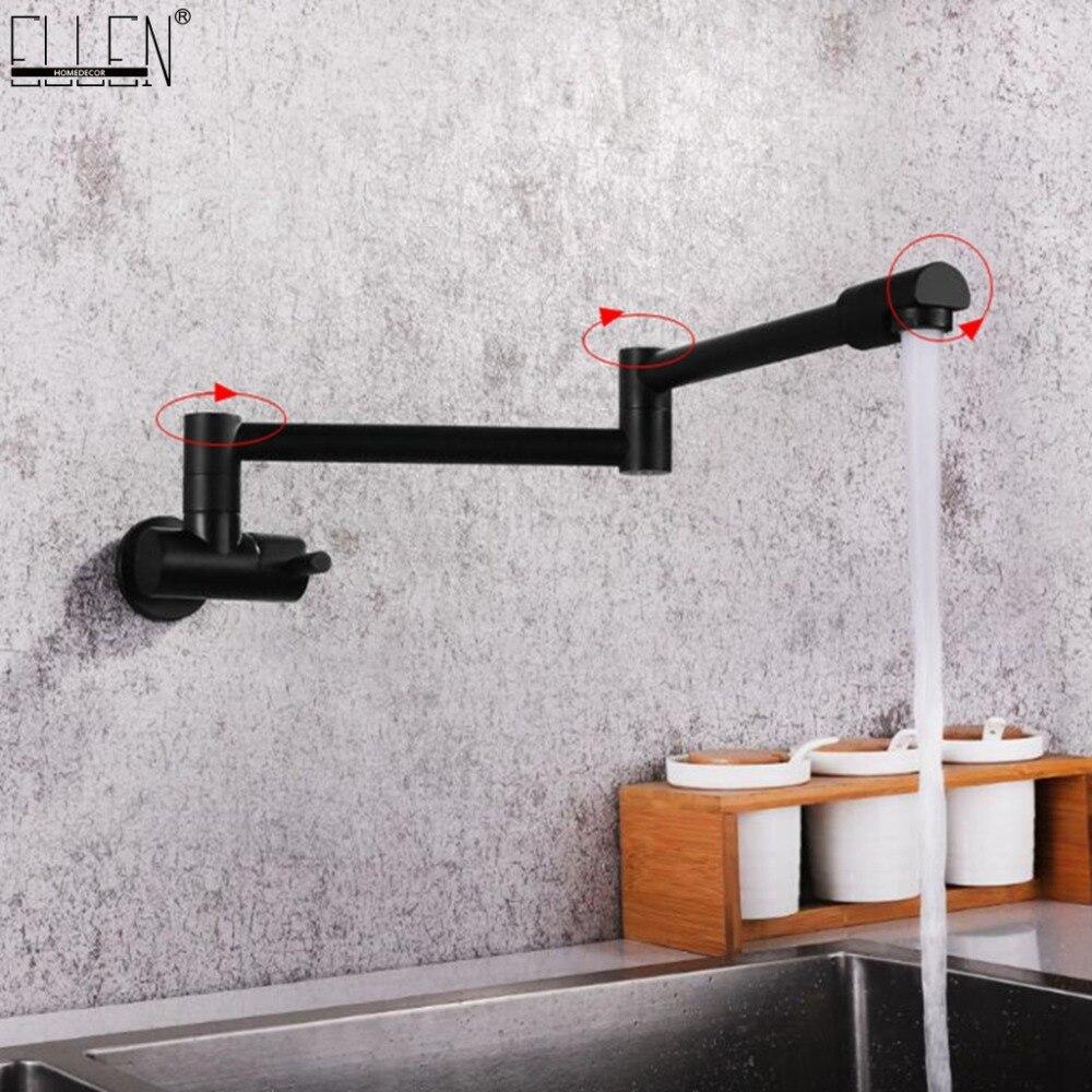 Robinet de cuisine mural robinets muraux simples à froid robinet d'eau pliant à 360 degrés ELK0024