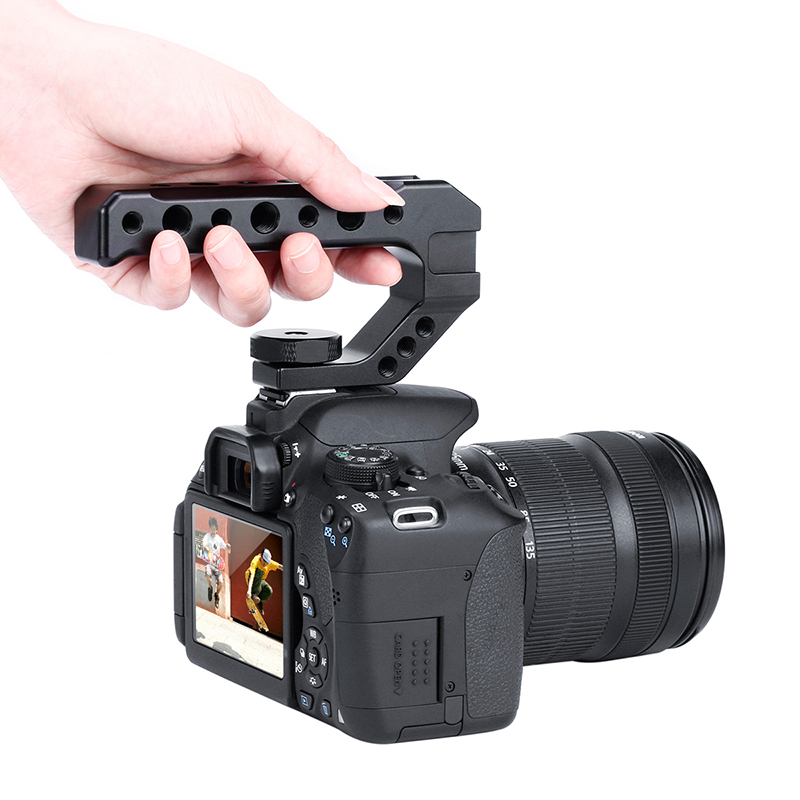 Image 2 - UURig R005 DSLR Camera Top Handle Grip Cold Shoe Adapter Mount Universal Handgrip for Sony Nikon Canon Pentax 1/4 3/8 Screw-in Photo Studio Accessories from Consumer Electronics