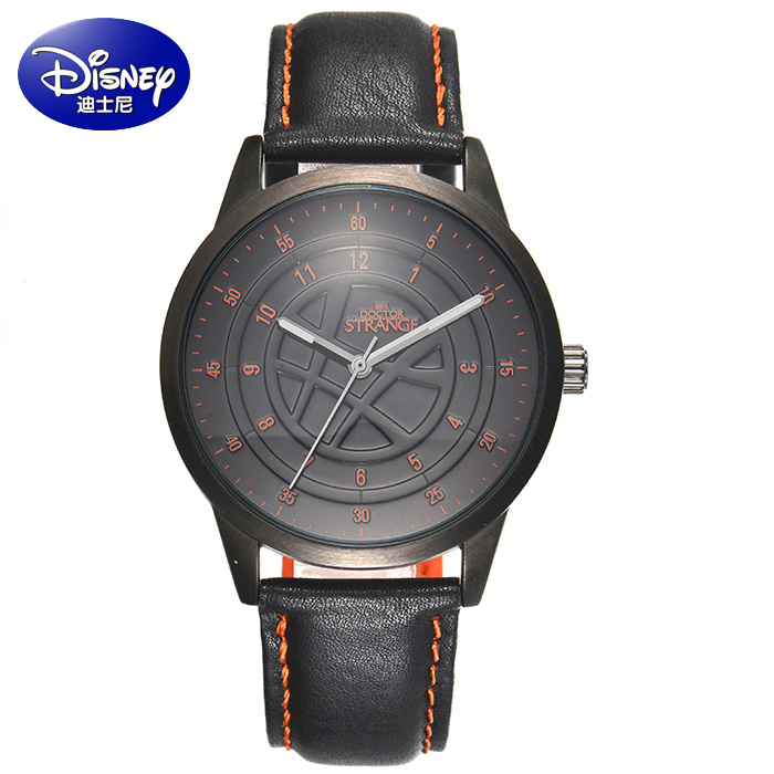 100% Genuine Disney Fashion student watch men iron man captain America The avengers alliance leisure men's cool men quartz watch 100% genuine disney fashion children watches for boys students captain america iron man leather watch strap luxury brand design