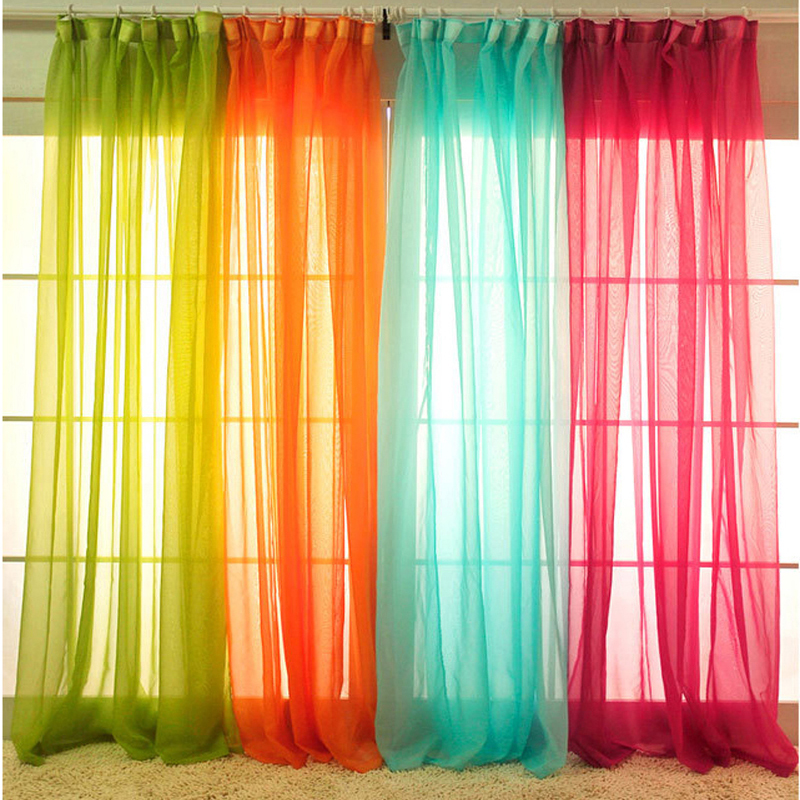 White Drapes Sheer Yarn Tulle Orange Curtains Room Divider Green Curtains  Room Decor Children Wedding Ceiling