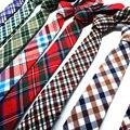 Nueva 5.5 CM algodón de Lino de alta calidad flaco corbata para hombre corbatas corbata gravata estrecha hombre corbatas corbatas para hombres nif lote