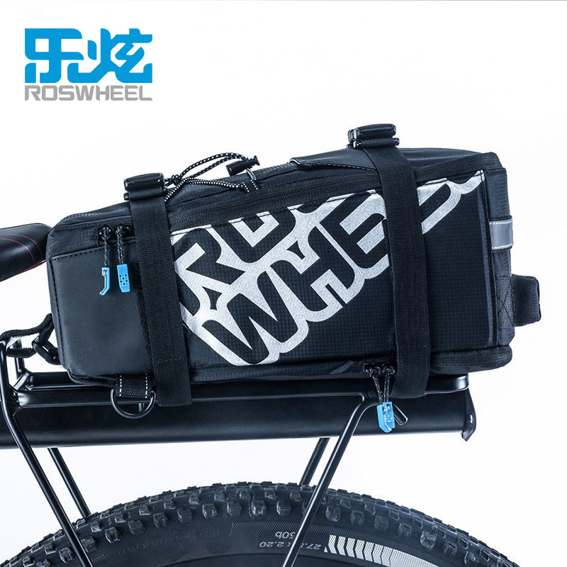 ROSWHEEL LOHAS 5L Bicycle Carrier Bag Rack Trunk Bike Luggage Back Seat Pannier Outdoor Cycling Storage Handbag Shoulder Strip