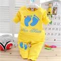 2017 Marca das Crianças Desgaste Da Mola do Outono Do Bebê Meninas Longo-Sleeved Jacket + Calças Quentes Da Moda Crianças de Algodão Desgaste Terno