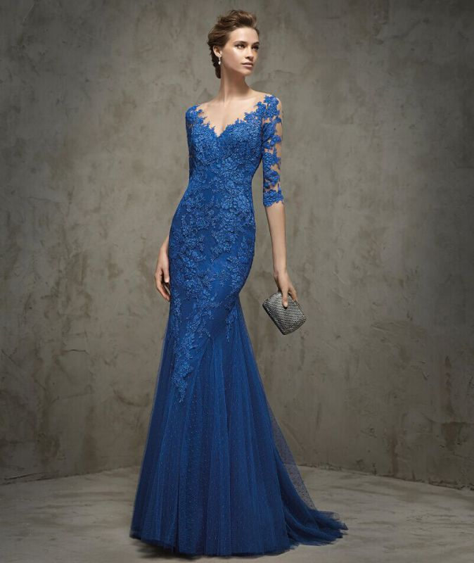 High Quality Blue Mermaid Dress-Buy Cheap Blue Mermaid Dress lots ...
