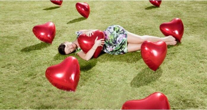 Düğün Dekorasyon Helyum Balonlar Büyük Kırmızı Kalp Shapped - Tatiller ve Partiler Için - Fotoğraf 4