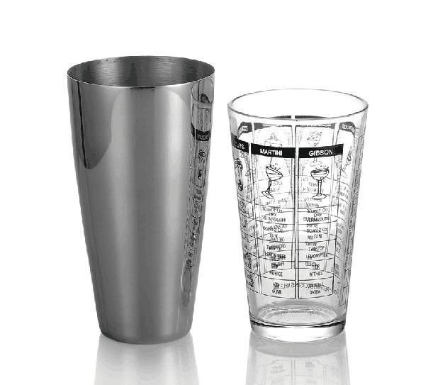 Hot Sale Practical 2pcs Stainless Steel Cocktail Shaker Mixer Drink Bartender Kit Bars Set Tools Boston