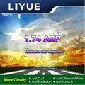 LIYUE High Index 1.74 Lenses Aspheric Lenses Myopia astigmatism Prescription Lenses Thinnest Lightest Optical Lens EMI