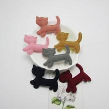 50 шт./лот мягкий фетр пушистый кот Форма Аппликация Патчи для одежды пришить на Ткань наклейки украшения, DIY аксессуары для волос