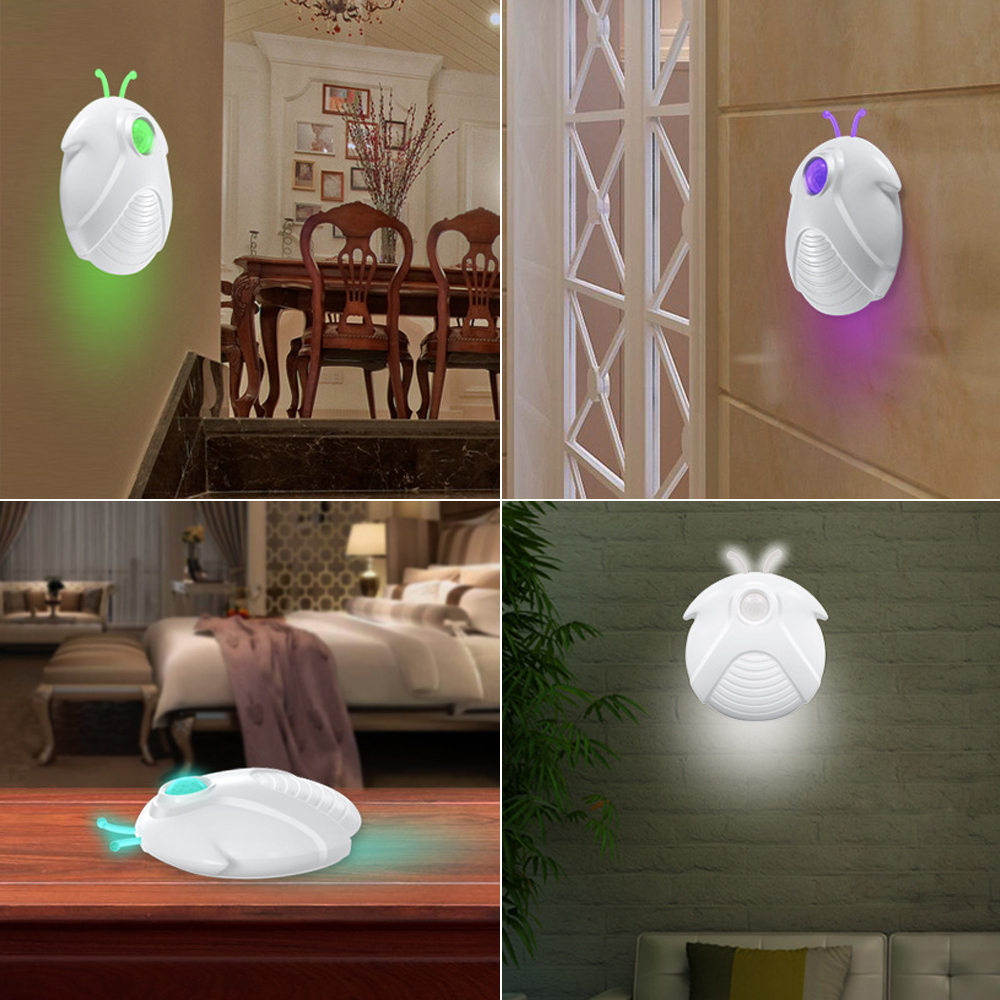 iTimo Firefly LED Night Light for Bedroom Porch Corridor Human Body Induction Lamp USB Rechargeable Wireless Motion Sensor DC 5V