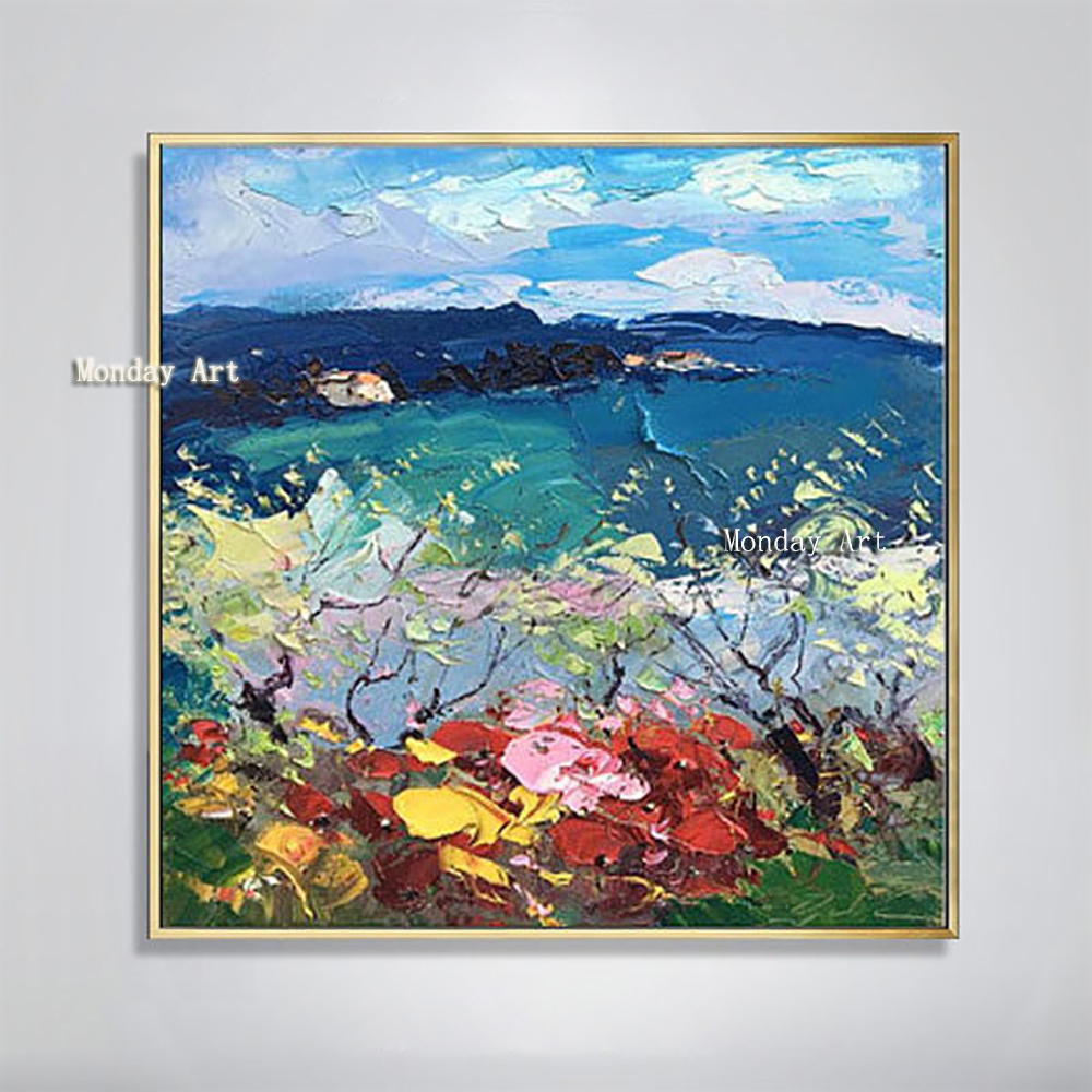 100-Hand-Painted-Abstract-Colorful-Scenery-Painting-On-Canvas-Wall-Art-Wall-Adornment-Picture-Painting-For