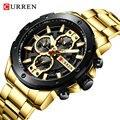 CURREN Мужские часы Топ бренд водонепроницаемый хронограф мужские часы из нержавеющей стали Кварцевые спортивные мужские часы Montre Homme Reloj Hombre