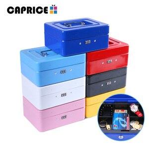 Image 5 - Caja fuerte de seguridad de banco, hucha, depósito, caja de dinero, caja de ahorro, contraseña, Keylock, cajas de maquillaje secretas, decoraciones para el hogar, tamaño M TH
