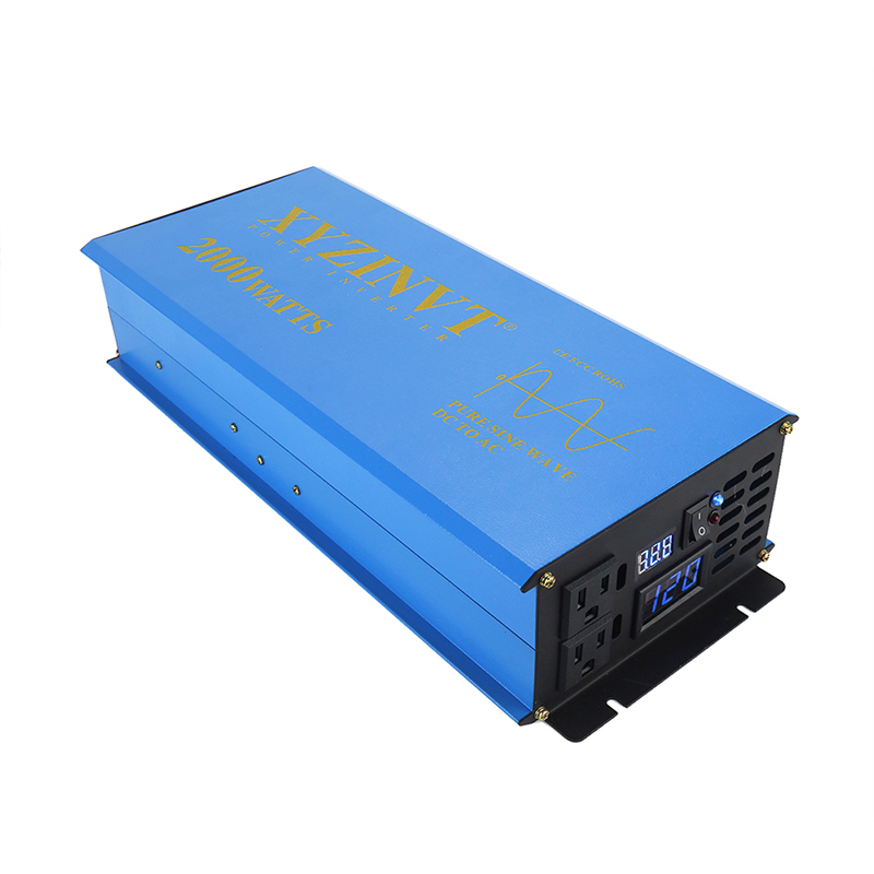 Solar Panel Inverter 12V 220V 2000W Pure Sine Wave Solar Inverter Battery Power Bank Converter 24V 48V DC to 120V 230V 240V AC