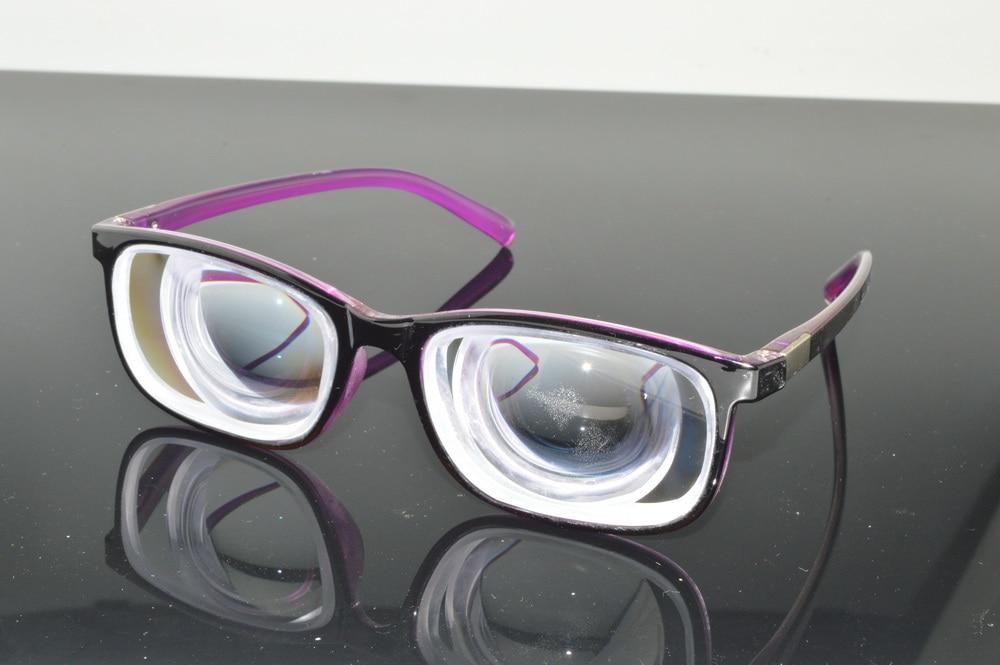 2019 women high myopia high myopic purple glasses -18D