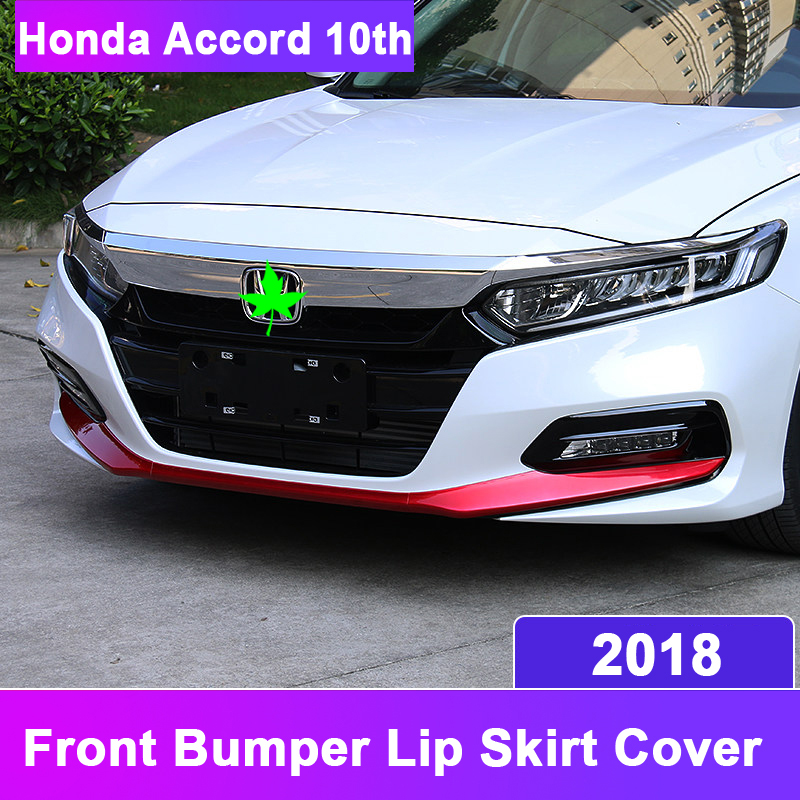 ABS Plastic Car Styling Bumper Strip Kit Outside Front Bumper Lip Skirt Cover For Honda Accord