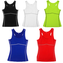 6 Colors  Breathable S-XXL Women's Athletic Sport Workout Vest Racer Back Gym Tee Shirt Top