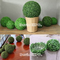 New 5PCS/Lots 16 Artificial Grass Topiary Balls Out/Indoor Hanging Boxwood Ball Wedding Party Home Yard Garden DIY Decoration
