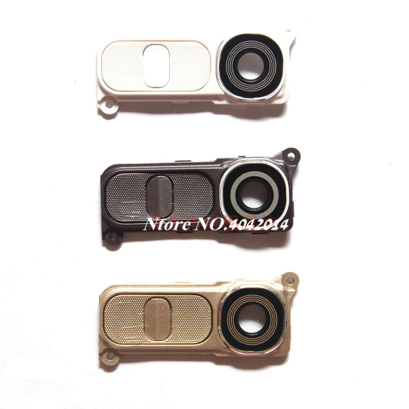 MIXUEWEIQI New Rear Camera Cover Glass Lens For LG G4 H818 H819 F500 H815 Back Camera Glass Frame Holder + Button image