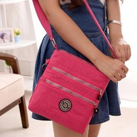 ANNY Hot Waterproof Cute Ladies Messenger Bag Candy Color Nylon Bag With Monkey New Brand Crossbody