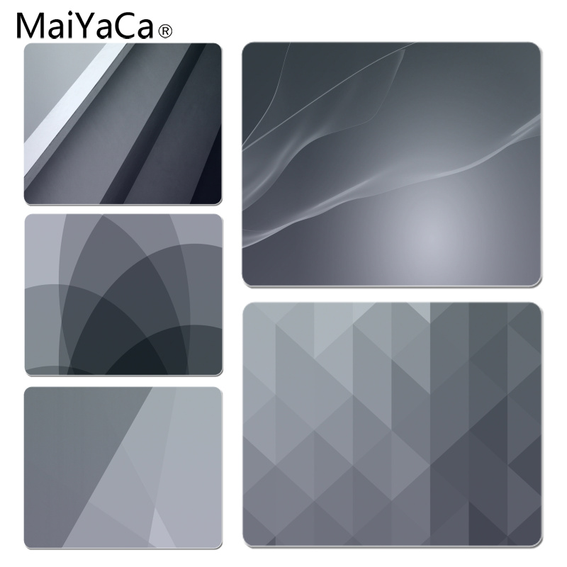 MaiYaCa Funny Gray Minimalism Gamer Play Mats Mousepad Size For 18x22cm 25x29cm Small Mousepad