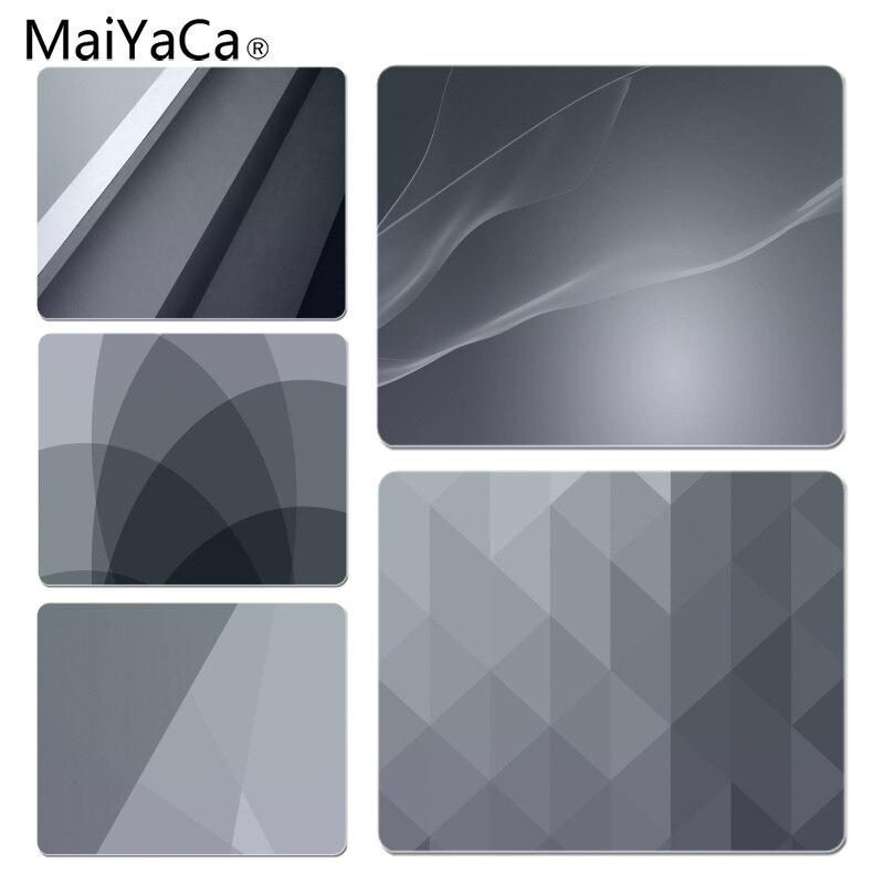 MaiYaCa Funny Gray Minimalism Gamer Play Mats Mousepad Size For 18x22cm 25x29cm Small Mousepad