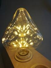 Привести светодиодный s декоративная светодиодная лампа E27 220 V Edison ЛАМПЫ теплый свет лампы накаливания заменить для лампы накаливания цветок наружного освещения