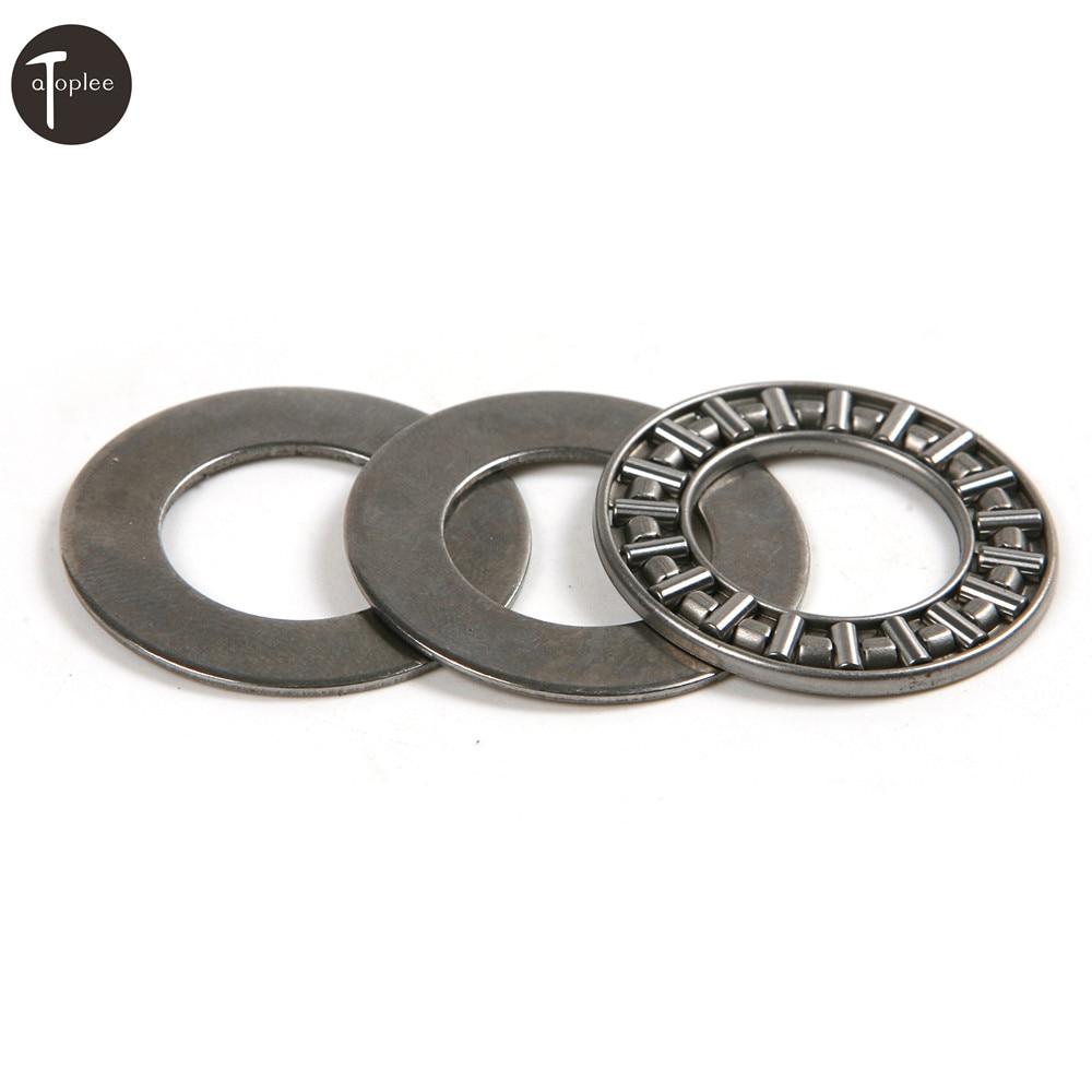 1set Miniature Bearing Steel Thrust Needle Roller Bearings Inner Diameter 6/8/10/15/17mm Ultra Thin Shim Thrust Bearings цена
