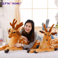 1pc 75/90/110cm Simulation Deer Plush toy Huge Size Home Decor Gift Stuffed Soft Cute Animal Deer Dolls Children Birthday G